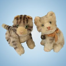 Darling Pair of 50s Steiff Kitty Cats