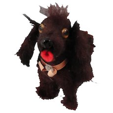 Black Fluffy Dog Made in US Zone Germany