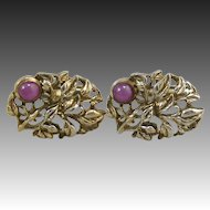 Damascene vintage cufflinks rare treasures ruby lane vintage linde star sapphire and sterling cufflinks in original box sciox Image collections