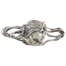 Art Nouveau Style Sterling Silver Brooch