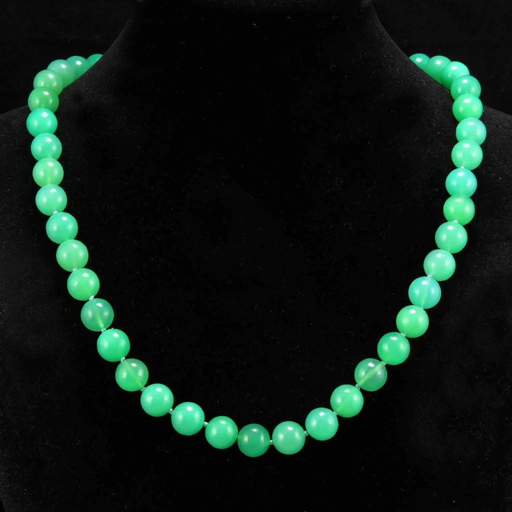 precious livemaster semi my necklace rada shop item and on online chrysoprase chalcedony stones of accessories