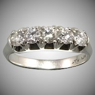 1/2ctw Platinum and Diamond Ring c1940