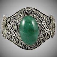 Spectacular Chinese Asian Export Silver Wedding Panel Bracelet c1920