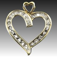 1/4ctw Diamond Heart 10K Pendant