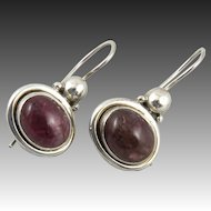 7ctw Pink Tourmaline and Sterling Silver Earrings