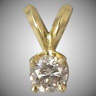 1/4ct Diamond 14K Gold Pendant