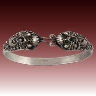 Double Head Dragon Serpent Bracelet Sterling Silver