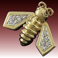 14K Diamond and Ruby Bee Pin/Brooch
