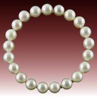 Large 14K Akoya Cultured Pearl Circle Brooch