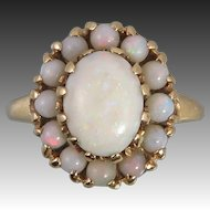 14K Art Deco Australian Opal Ring