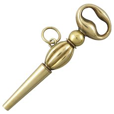 Antique 14K Watch Key with Ratchet Action