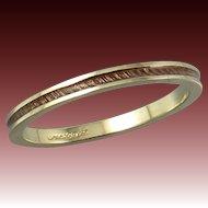 14K Guilloche Enamel Band Ring