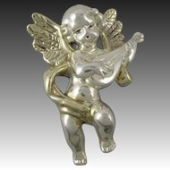 Large Sterling Silver Angel Brooch | Pendant