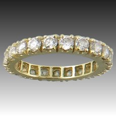 14K Yellow Gold CZ Eternity Ring