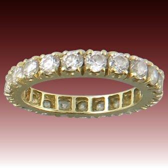 14K Yellow Gold CZ Eternity Ring