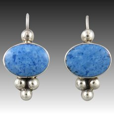 Denim Lapis and Sterling Silver Earrings