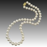 Large Baroque Freshwater Cultured Pearl Necklace