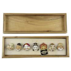 Seven Gods Of Fortune Porcelain Button Set By Toshikane (Kojima Porcelain)