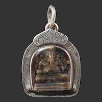 Ganesha Shrine Pendant in Sterling SIlver