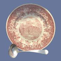Vassar College Gift Set - Rockefeller Hall Plate and Small Monogrammed Ladle