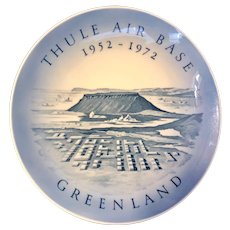 Royal Copenhagen 1972 Thule Air Base Greenland 20th Anniversary Plate