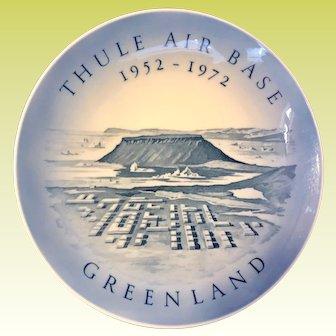Royal Copenhagen 1972 Thule Air Base Greenland 20th Anniversary Plate