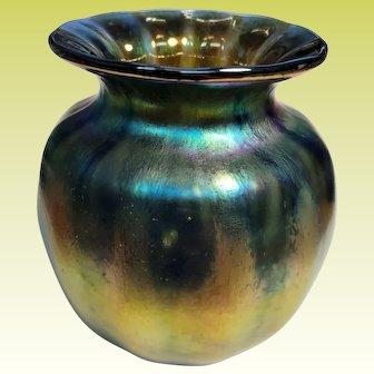 Gorgeous Saul Alcaraz Glass Aurene Favrene Style Vase