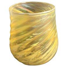 Beautiful Cia Glass Lemonade Favrene / Aurene Color Vessel