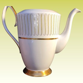 Vintage Royal Albert Capri Pattern Coffee Pot Bottom