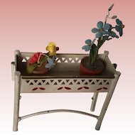 Early Marklin Dollhouse Plant Stand Ca. 1900