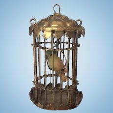 Beautiful  Dollhouse Ormolu Parrot Cage