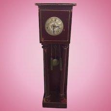 Wonderful German Dollhouse Gottschlak Grandfather Clock