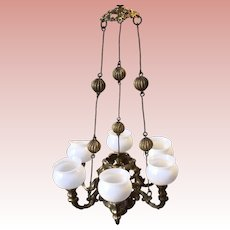 Fabulous Erhard&Sohne 6 Arm Ormolu Dollhouse Chandalier