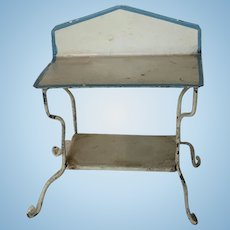 Early Tin Dollhouse Wash Stand