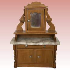 Early Dollhouse German Schneegas Sideboard