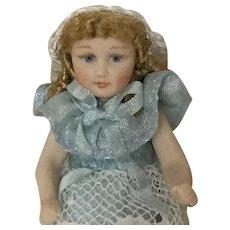 """Wonderful artist Made 2 1/4"""" Bisque Doll"""