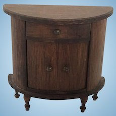 Wonderful German Dollhouse Red Stained Table