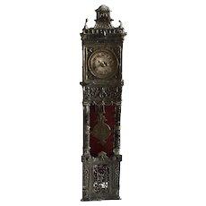 German Dollhouse Soft Metal Grandfather Clock