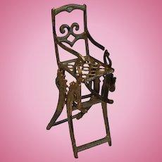 Dollhouse French Folding metal High chair