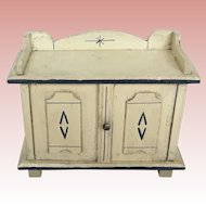 German Large Scale Doll or Room Side Board
