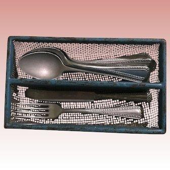 Early  German Dollhouse Kitchen Silverware Holder