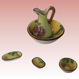 Beautiful Dollhouse or doll Limoges wash Bowl Set
