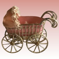 Small Metal Baby Carriage
