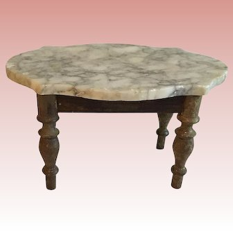 Wonderful Early German Marble Top Table