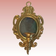 German soft Metal Mirror and Candle Holder