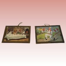 German whimsical Pictures signed Trier