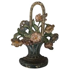 Beautiful Hubly Flower Basket Iron Door Stop