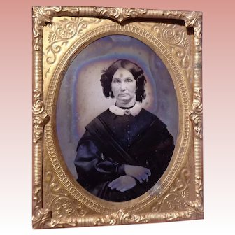 Wonderful Small  Ambrotype Photo For Dollhouse