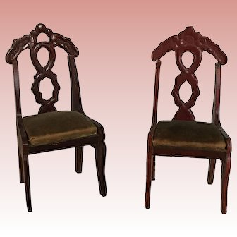 Dollhouse German Red Stain Chairs
