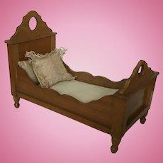Wonderful German Schneegas Dollhouse Bed